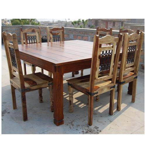 Dallas Ranch 9pc Dining Room Table And Chairs Set