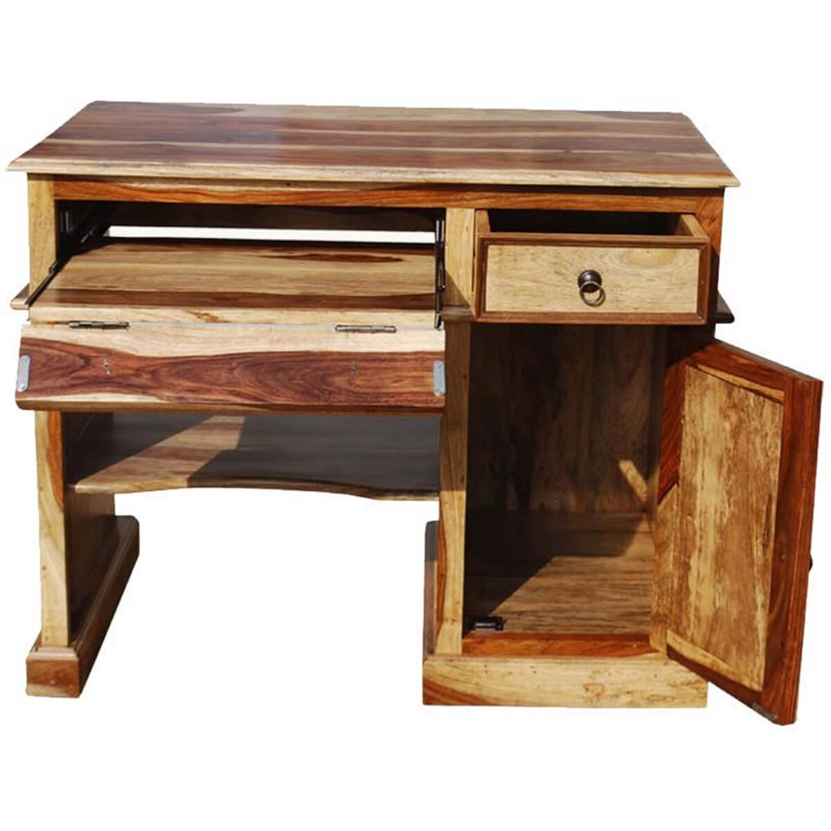 ... Santa Fe Collection Solid Wood Computer Desk For Small Space