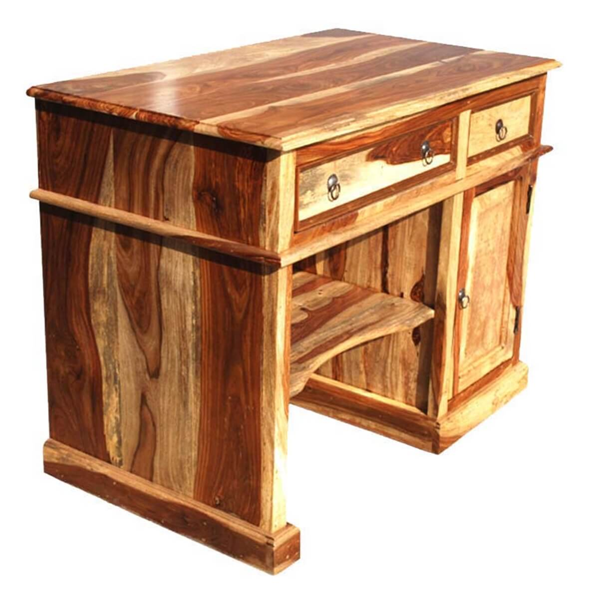 solid wood computer desk for small space. Black Bedroom Furniture Sets. Home Design Ideas