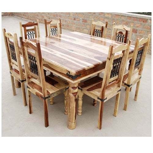 Dallas ranch solid wood square handmade dining room table furniture Dining room furniture dallas