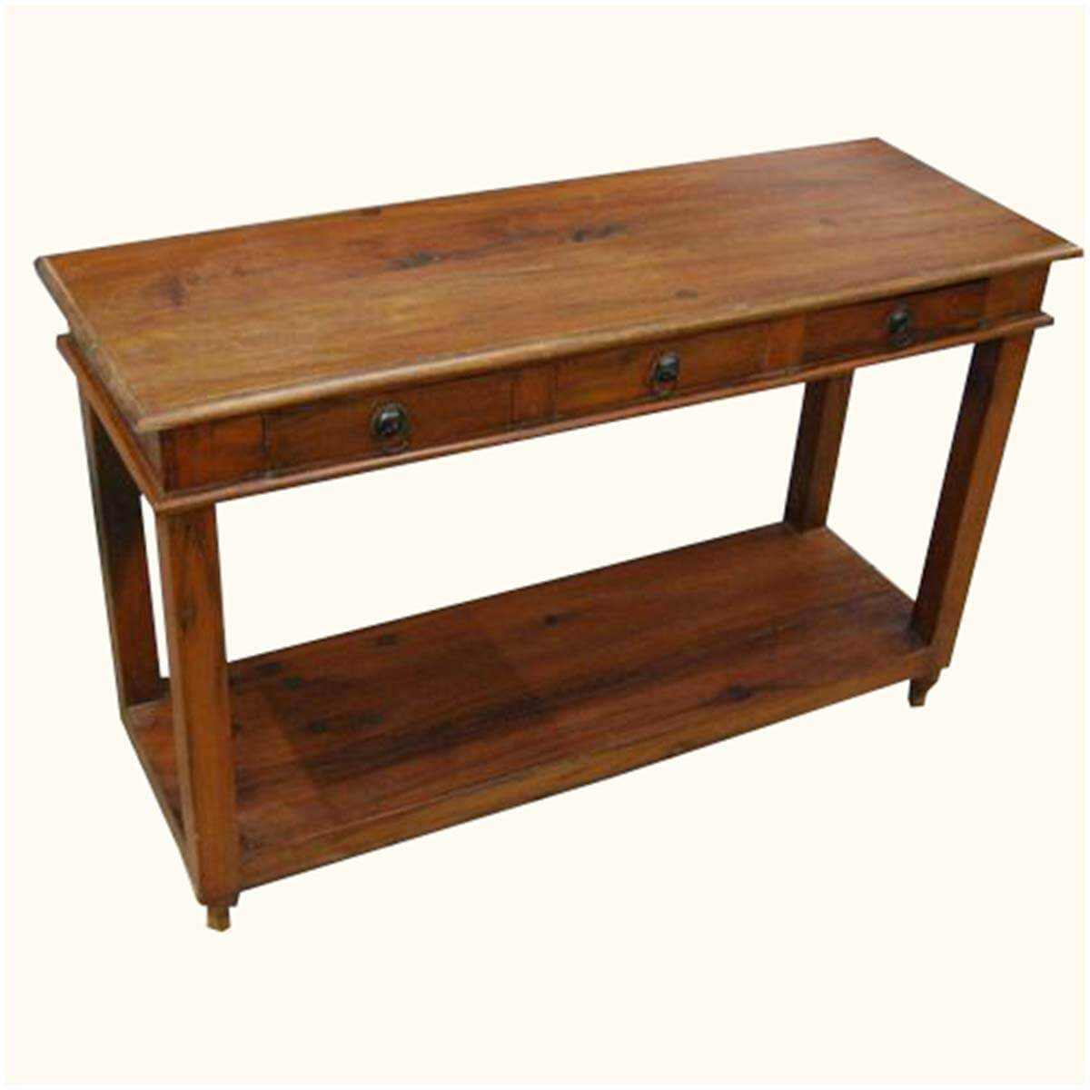 Solid wood entry sofa hall console foyer table w drawers