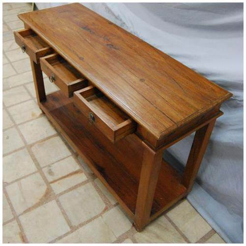 Solid Wood Sofa Table ~ Solid wood entry sofa hall console foyer table w drawers