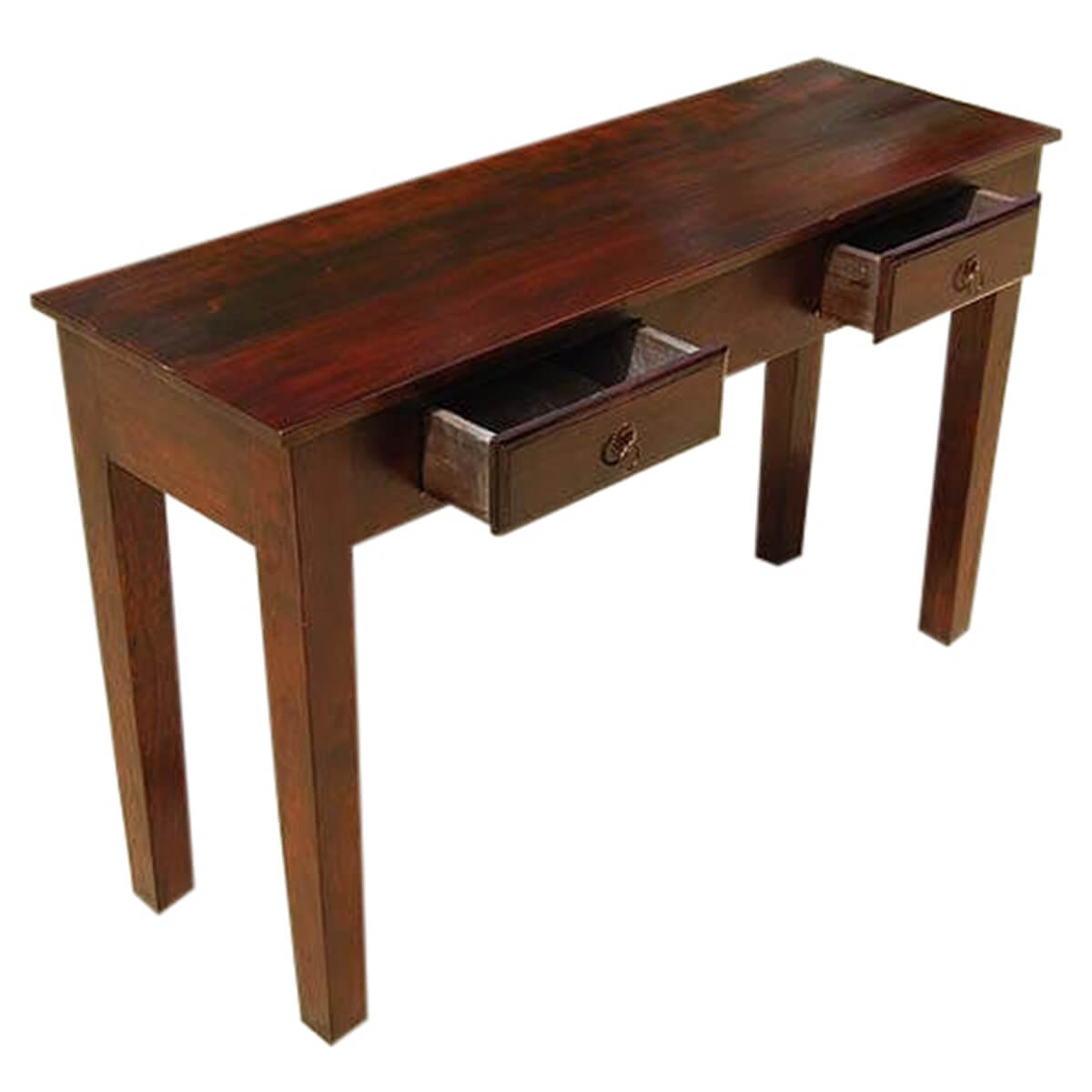 Foyer Table With Drawers : Wood storage drawers console hall entry way foyer table
