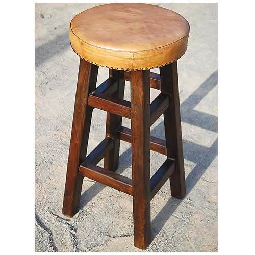Solid Wood Leather Padded Kitchen Counter Bar Stool  : 18421 from sierralivingconcepts.com size 500 x 500 jpeg 59kB