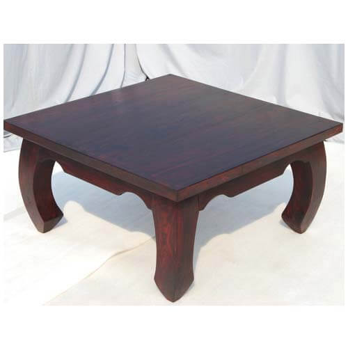 Large japan cherry wood cocktail square coffee table Cherry wood coffee tables
