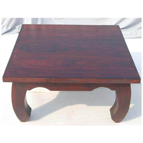 Large japan cherry wood cocktail square coffee table for Large wood coffee table square