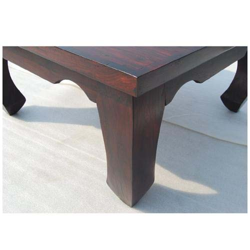 Large Japan Cherry Wood Cocktail Square Coffee Table