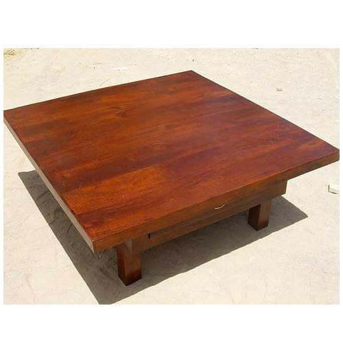 Contemporary 2 Drawer Square Coffee Table