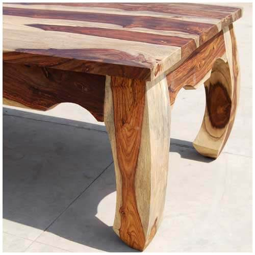 Large Wood Coffee Table: Large Rustic Unique Wood Cocktail Coffee Table