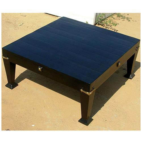 Large solid wood square black coffee table sale for Large wood coffee table square
