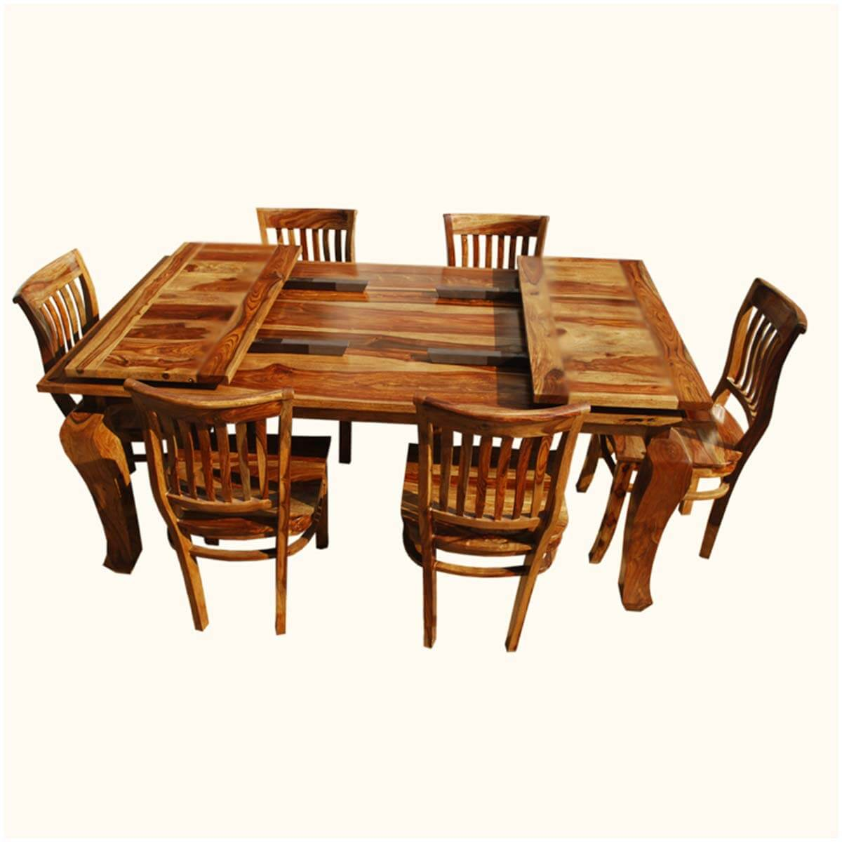 Rustic lincoln study dining table 6 barrel back chairs w for Dining table 6 chairs