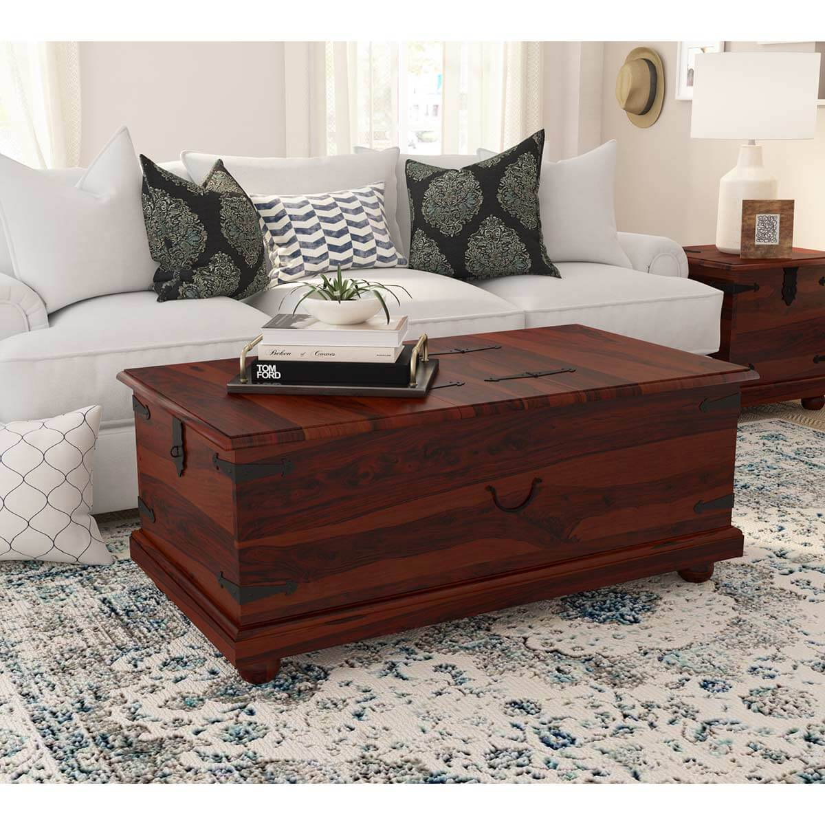 Kokanee Study Double Top Storage Trunk Coffee Table