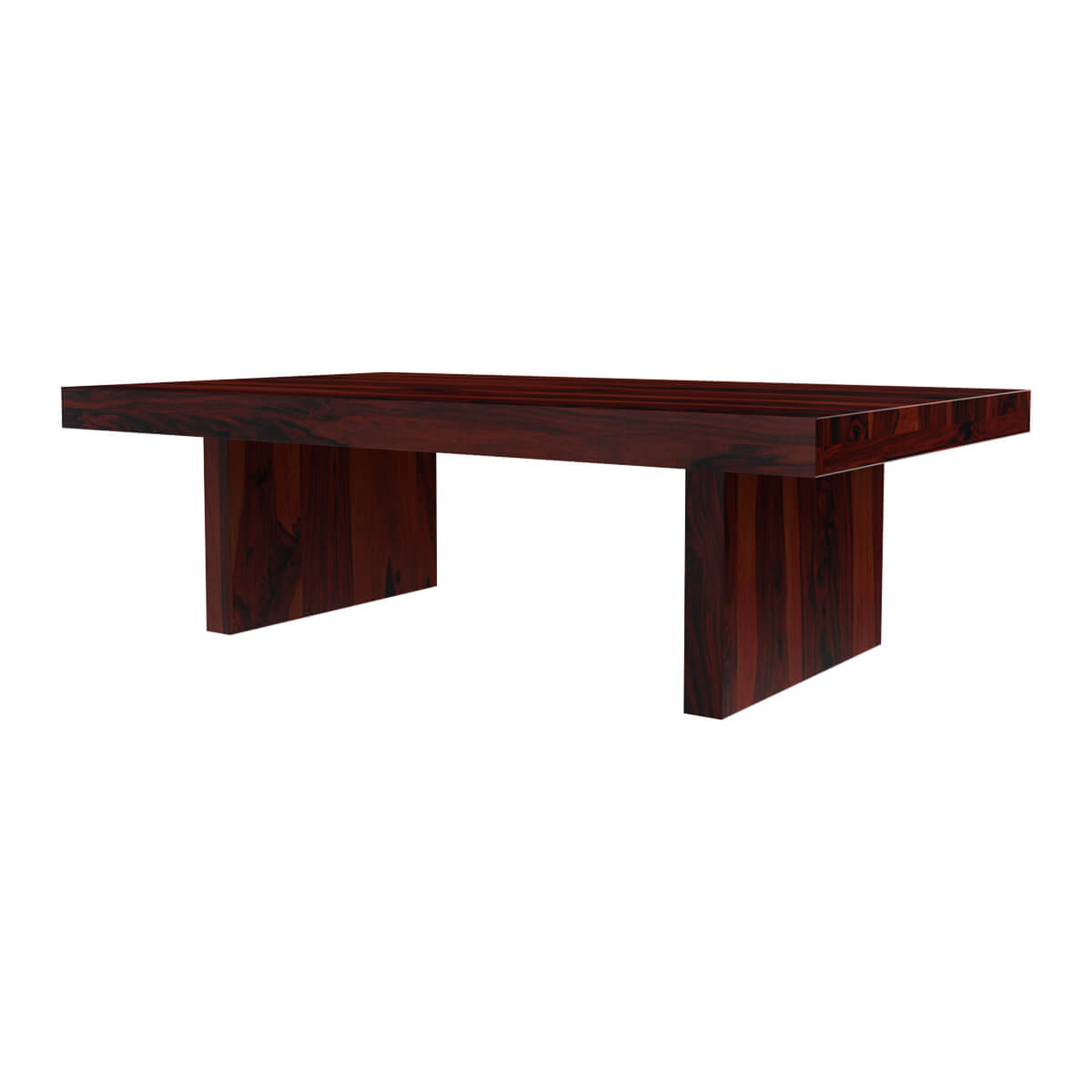 Espresso Solid Wood Block Style Cocktail Coffee Table