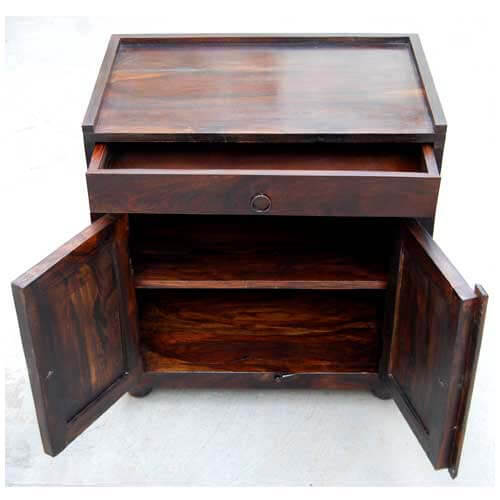 end tables espresso wood storage drawer kitchen cabinet side table