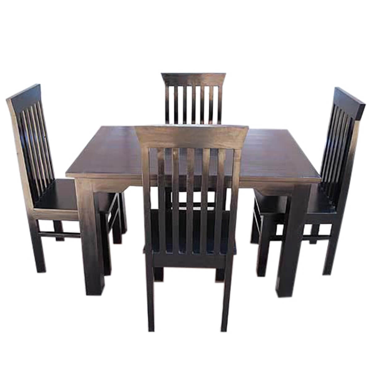 Contemporary lincoln kitchen dining room table chairs set for Dining room table and chair sets