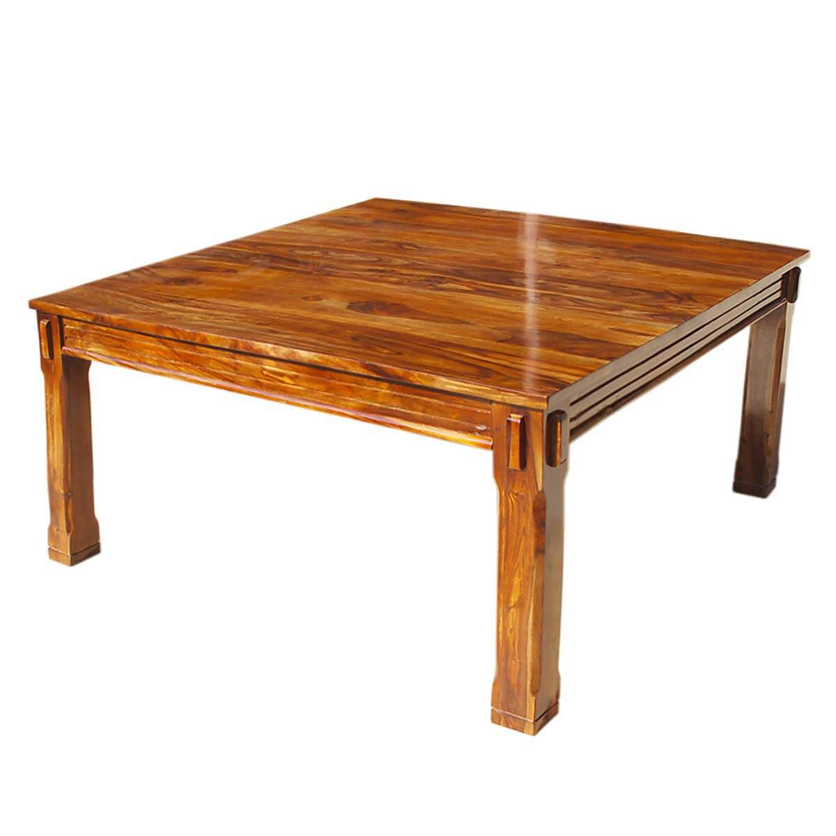rustic solid wood 64 square dining table ebay
