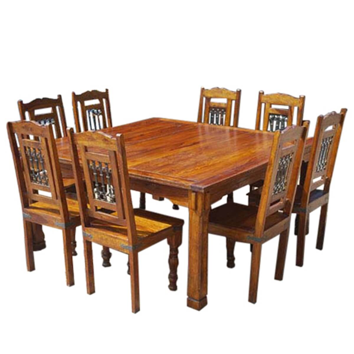 solid wood philadelphia 9pc classic dining table chair set. Black Bedroom Furniture Sets. Home Design Ideas