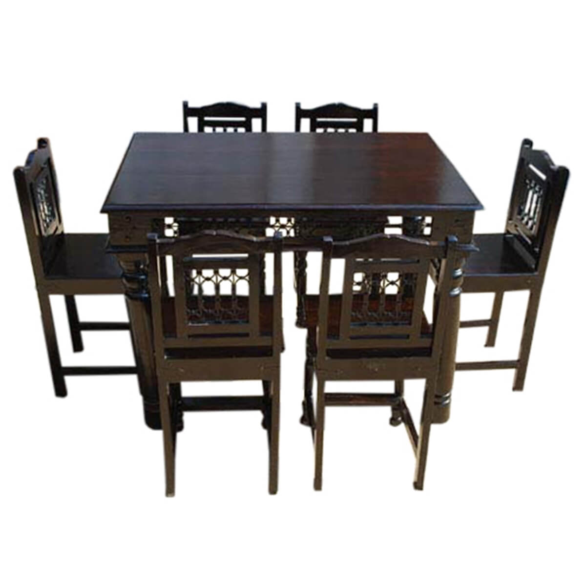 Philadelphia Transitional Counter Height 7pc Dining Table