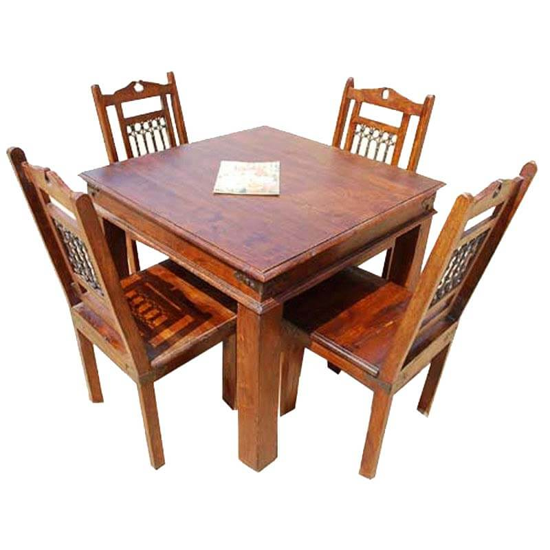 philadelphia transitional dining table chair set for 4 people