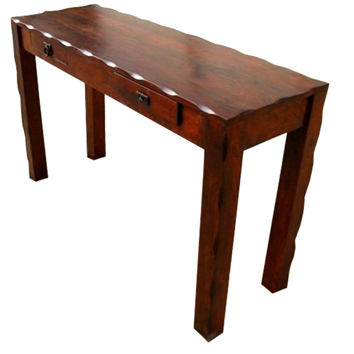 Solid wood entry sofa hall foyer console table for Hall console table