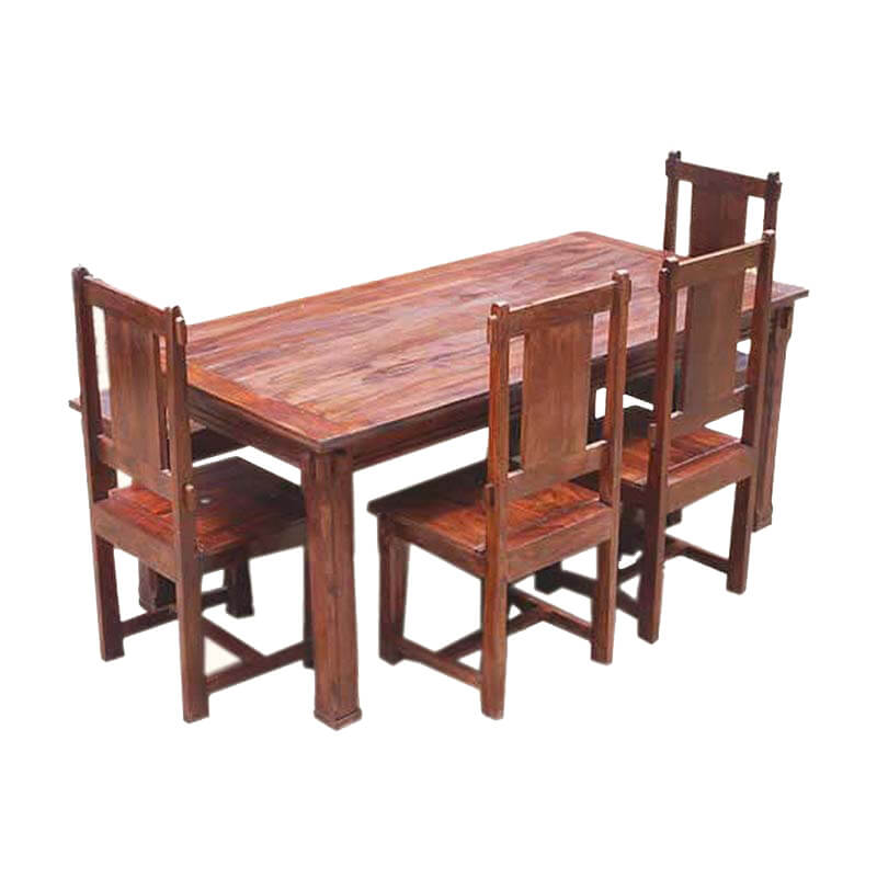 dining table and chair sets rustic solid wood santa cruz dining table