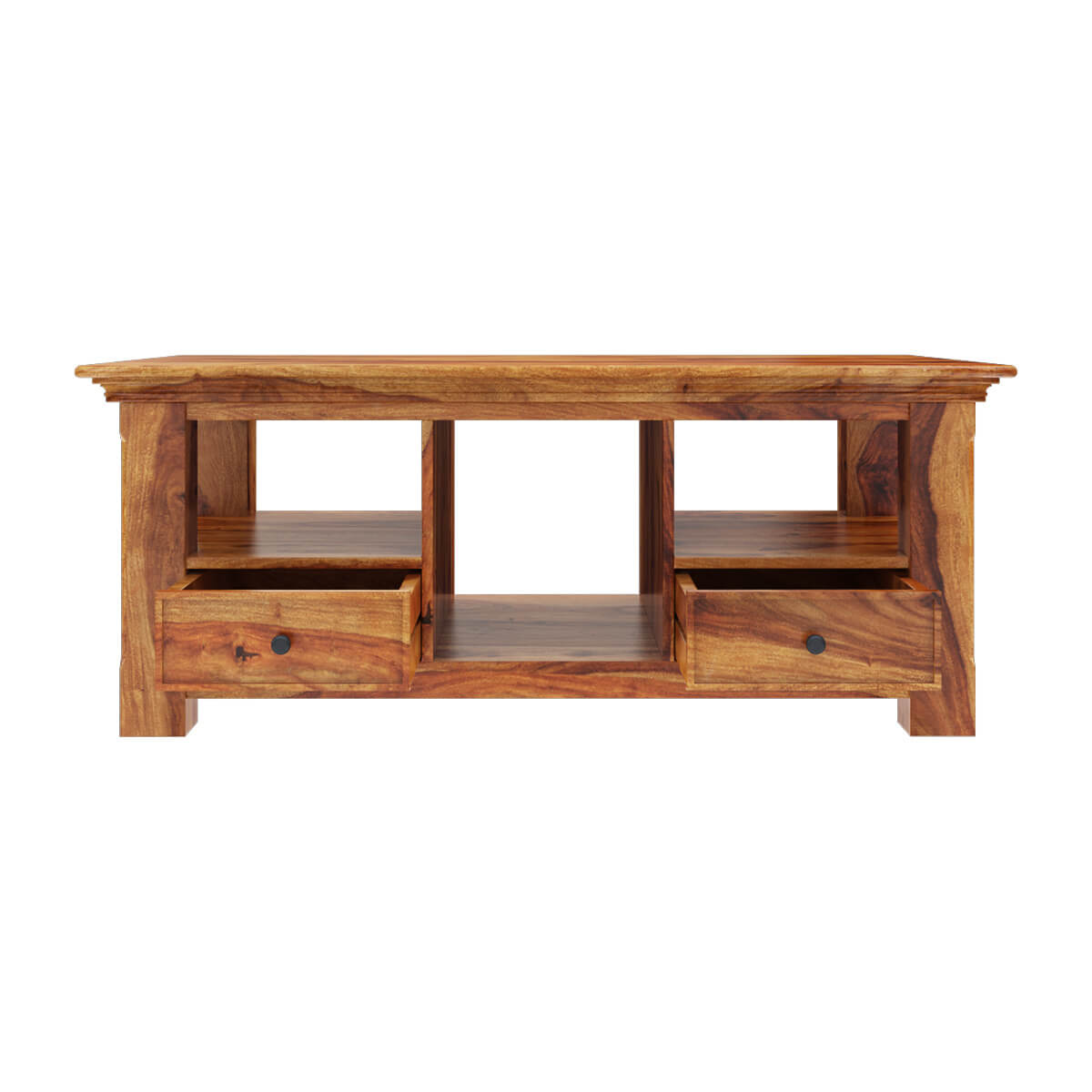 Coffee Tables Santa Cruz Shaker Style Multi Compartment Coffee Table