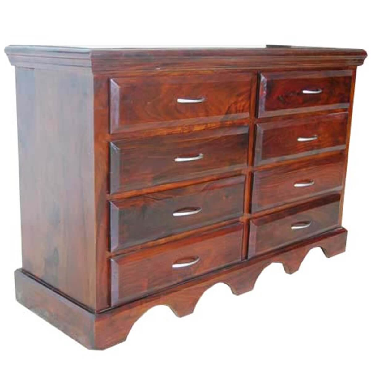 sierra 8 drawer bedroom dresser storage chest