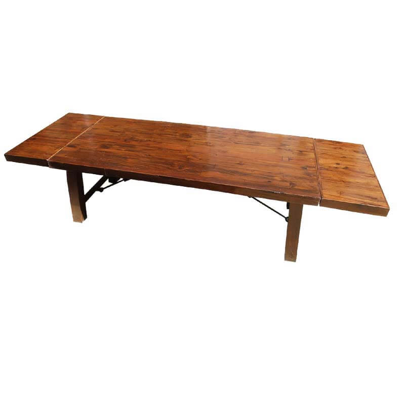 sierra nevada rustic solid wood large extension dining table