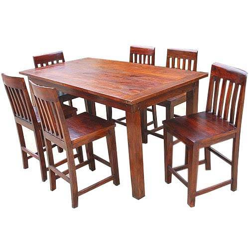 Sierra contemporary counter height 7 pc dining table and chair set