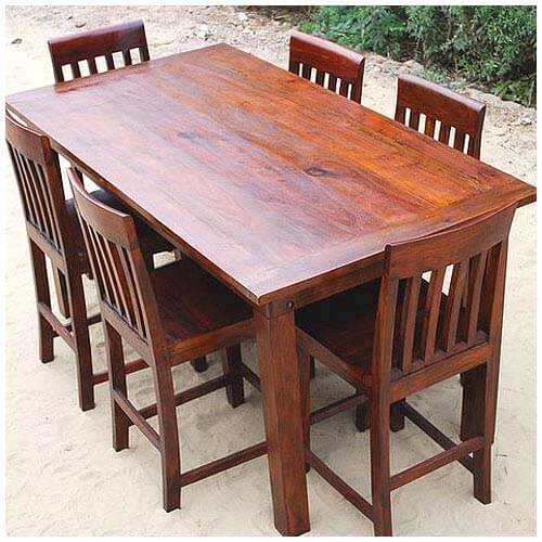 sierra contemporary counter height 7 pc dining table and