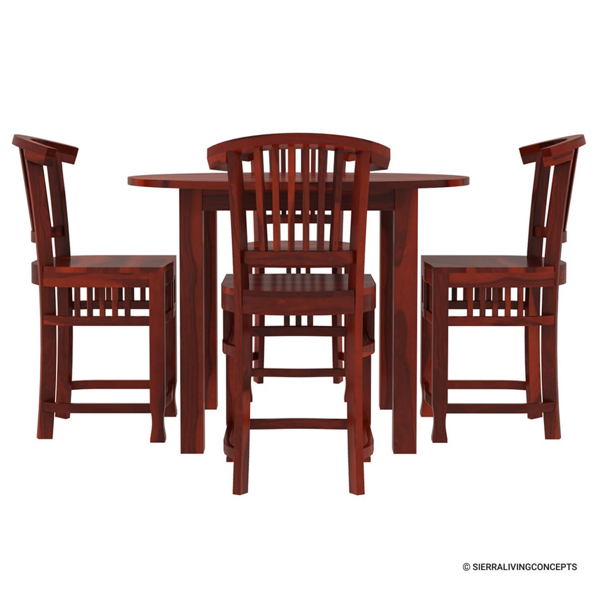 5 PC Contemporary Counter Height Round Dining Table And