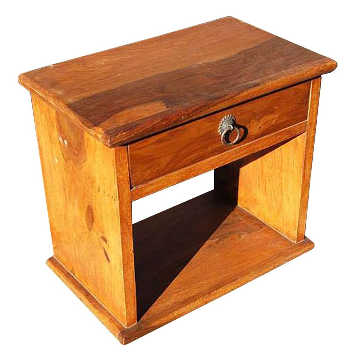 Simple 1 drawer low height side bedside end table for Low end table