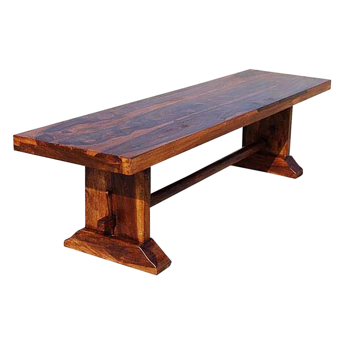 Louvre rustic solid wood indoor wooden bench Furniture benches