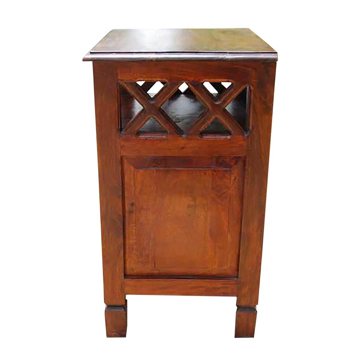Wood Side Tables With Storage ~ Solid wood storage drawers side end table night stand