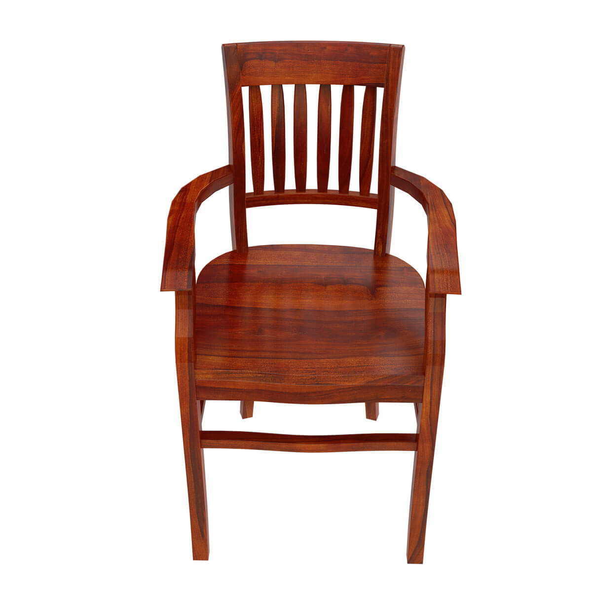 Wood Dining Chairs With Arms ~ Siena rustic solid wood arm dining chair