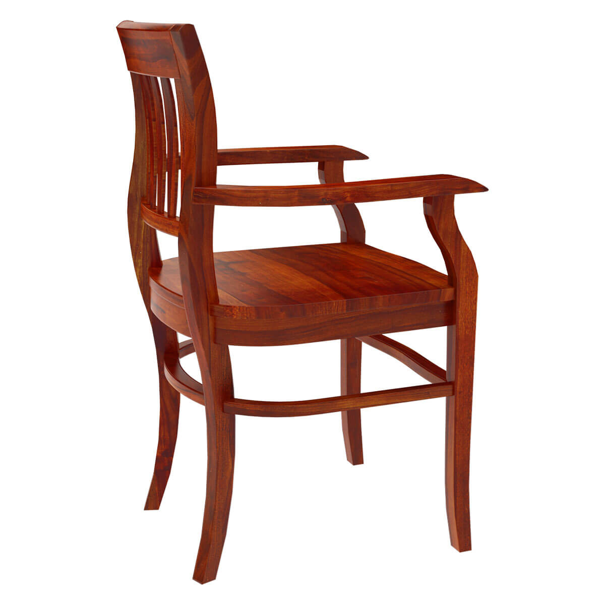 Solid wood arm dining chair furniture for Wood dining room chairs with arms