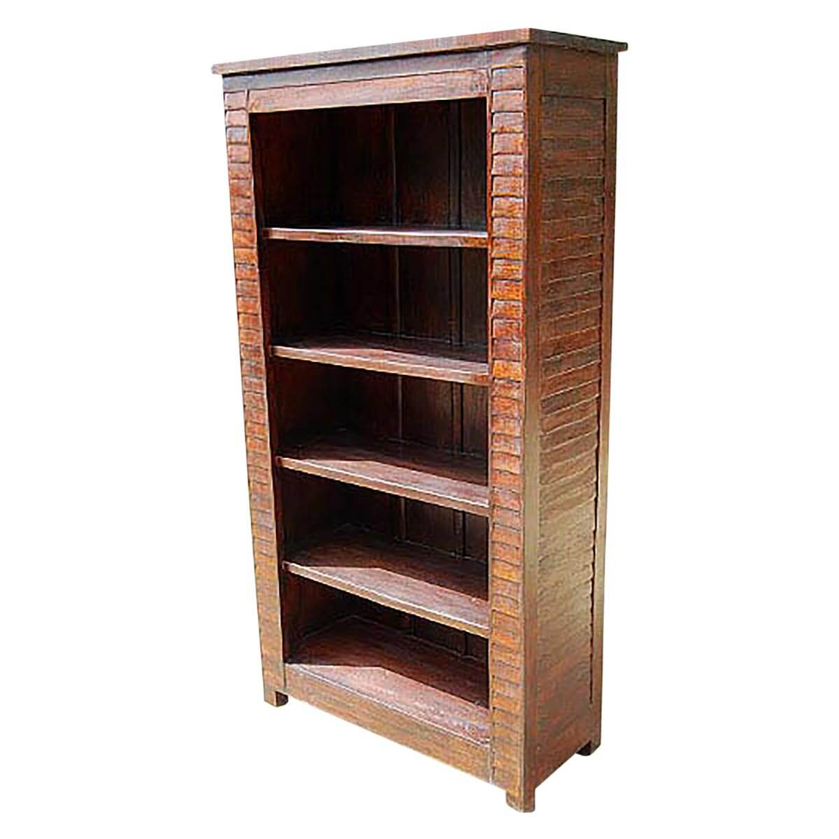 Timber Bookcase: Solid Wood Large 5 Shelves Bookcase Book Shelf Armoire