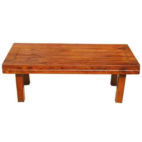 Solid Wood Mission Cocktail Occasional Coffee Table