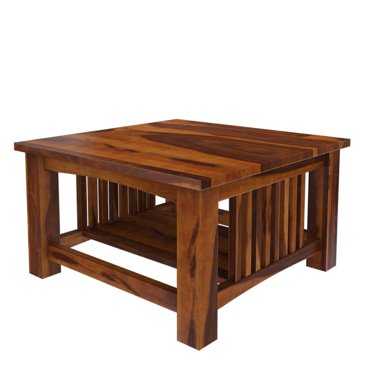 Rustic solid wood square coffee table furniture for Solid wood coffee table