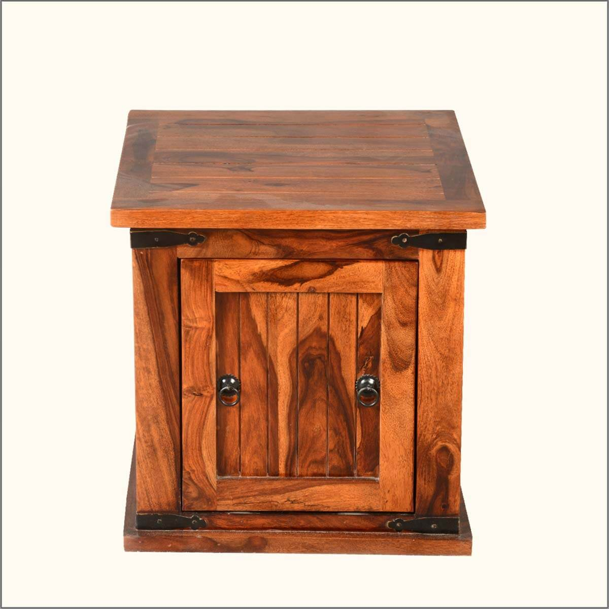 Amazing photo of Home Solid Wood Square Storage Box Trunk Sofa Side End Table with #B48317 color and 1200x1200 pixels