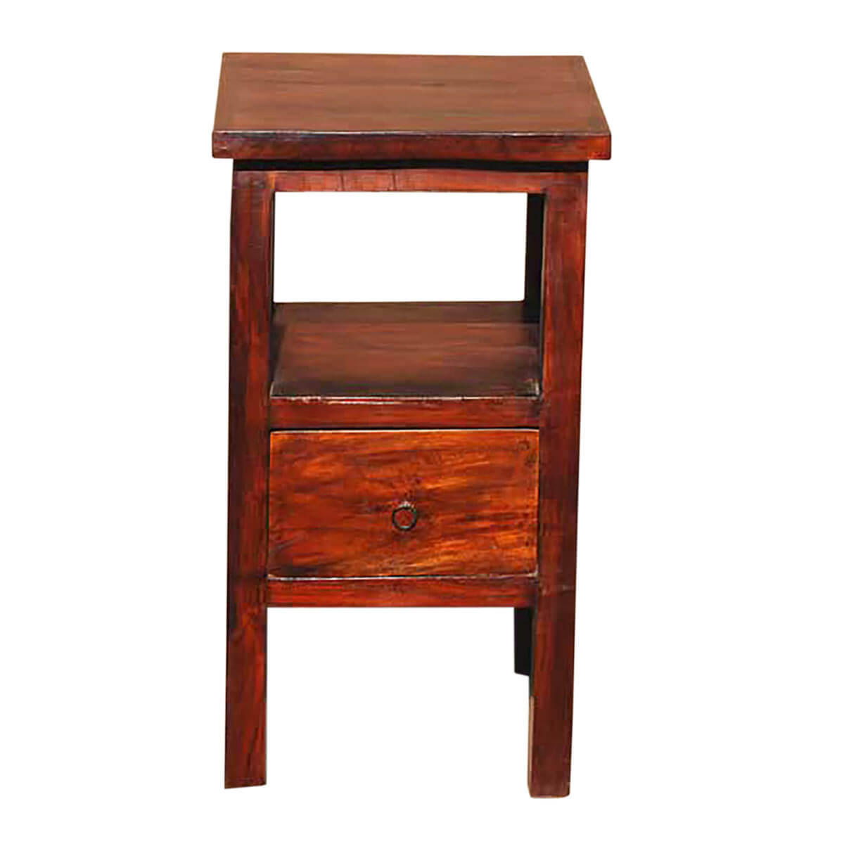 Wood Night Stand ~ Solid wood storage drawer side telephone lamp night stand