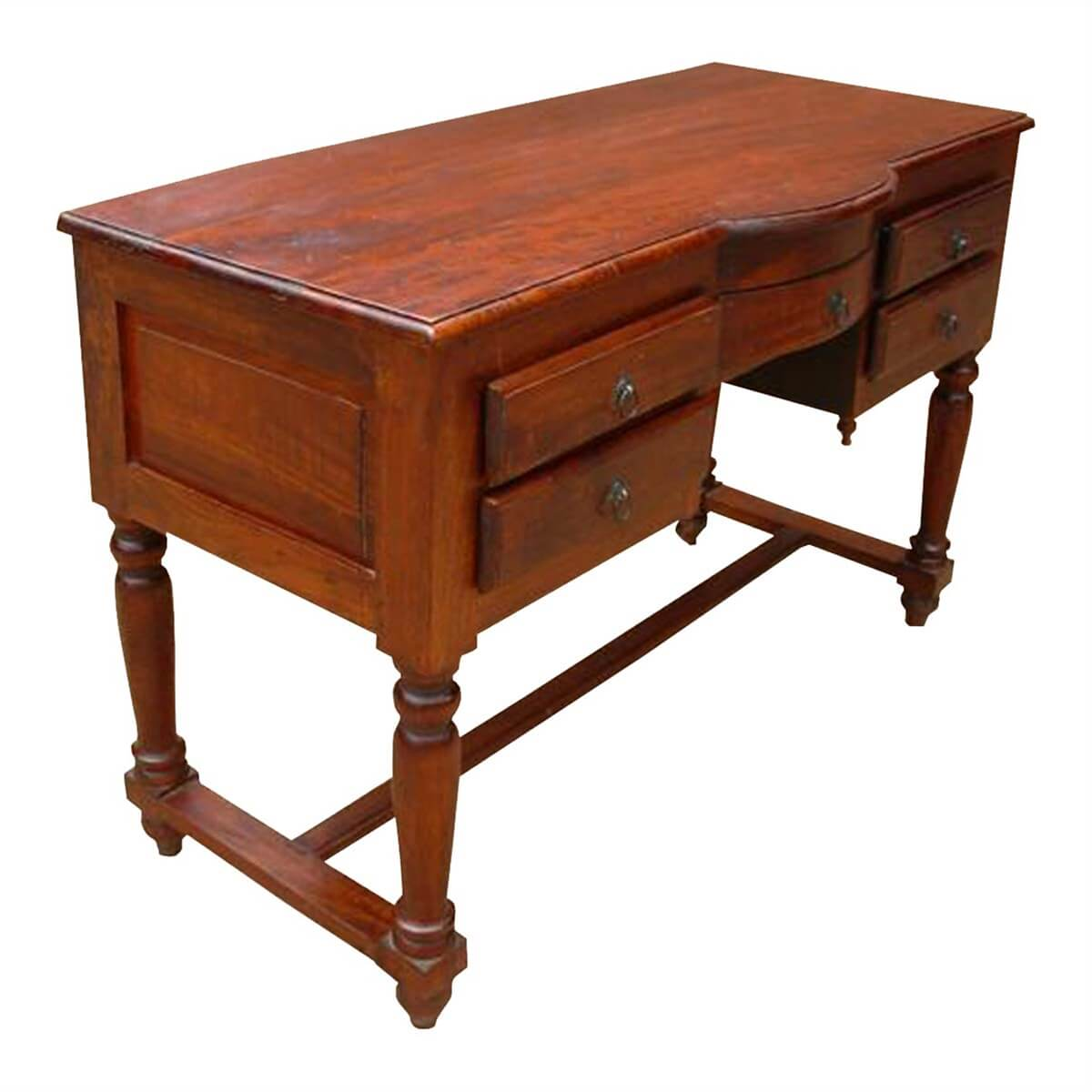 Superb img of  Room Desks Solid Wood Storage Drawers Writing Desk Console Table with #B27F19 color and 1200x1200 pixels