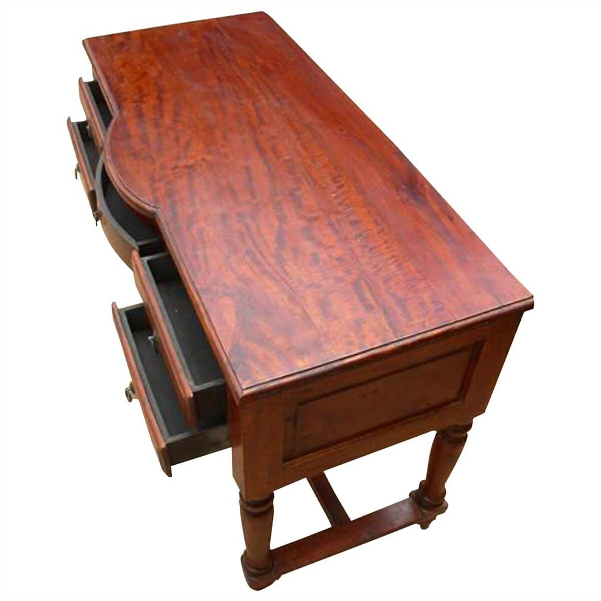 Solid Wood Console Tables With Storage ~ Solid wood storage drawers writing desk console table