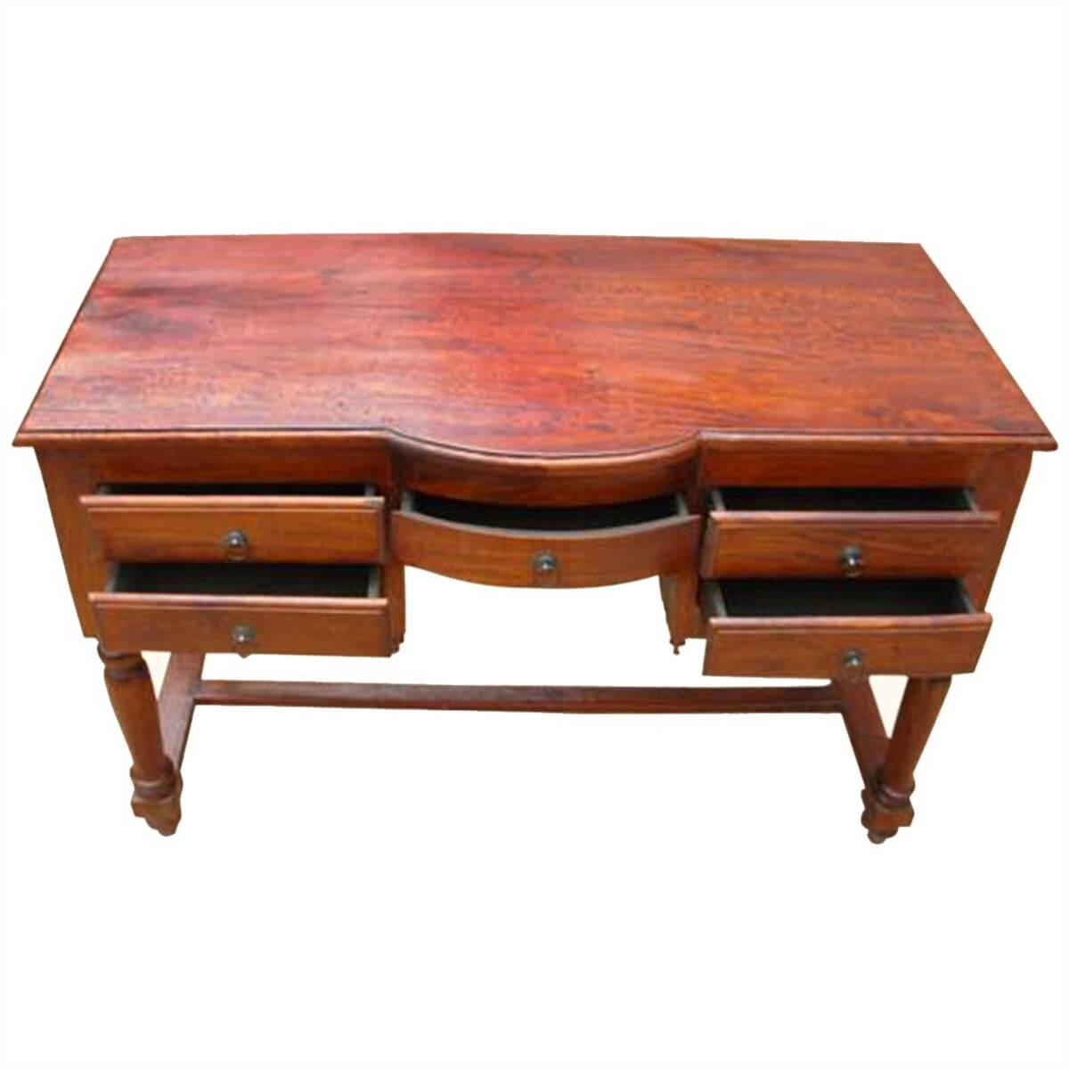 Superb img of  Room Desks Solid Wood Storage Drawers Writing Desk Console Table with #B48317 color and 1200x1200 pixels