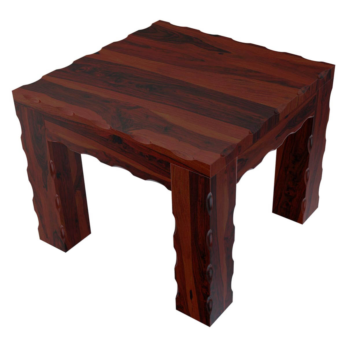 Unique Wood End Tables ~ Solid wood unique square bed side end table stand