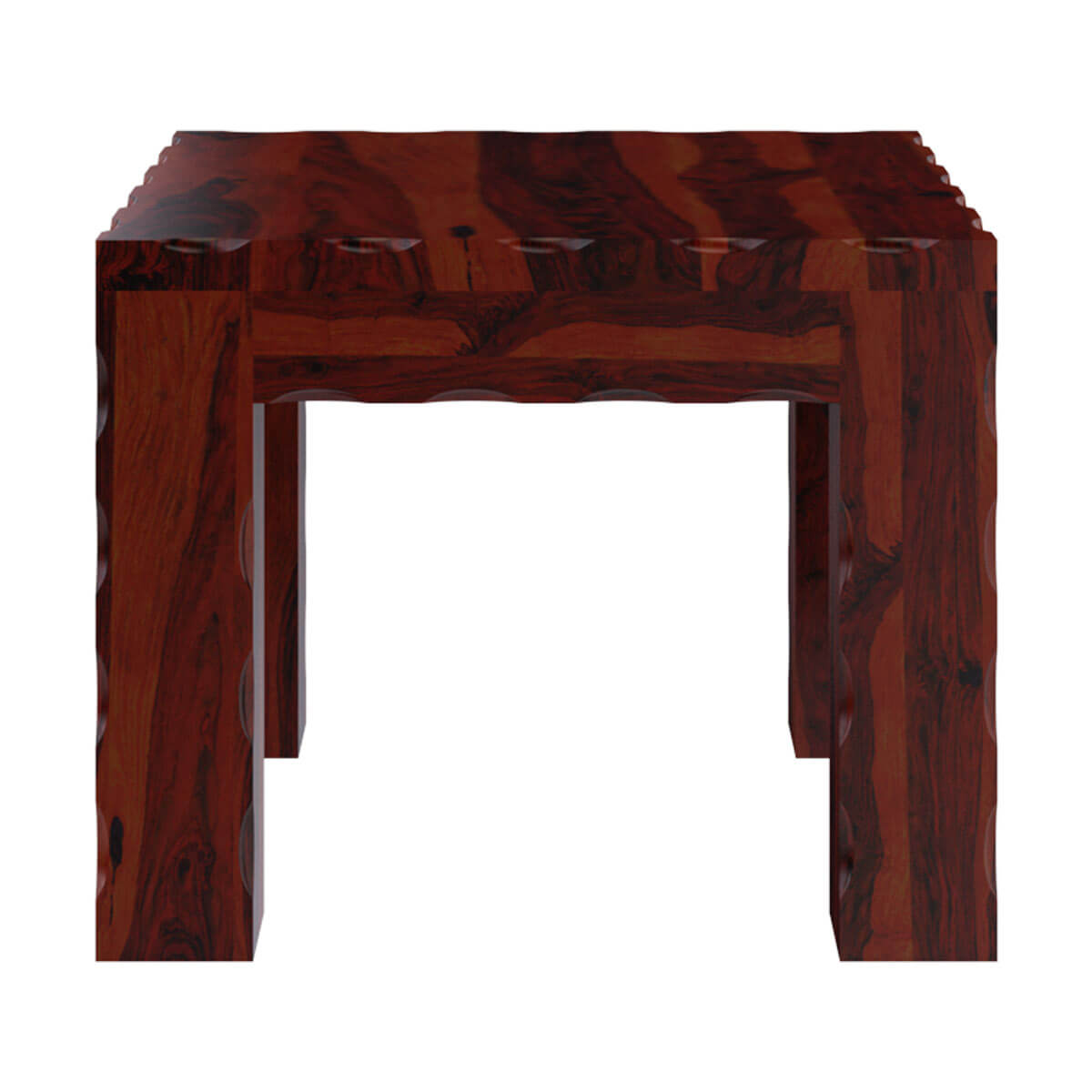 Solid wood unique square bed side end table stand