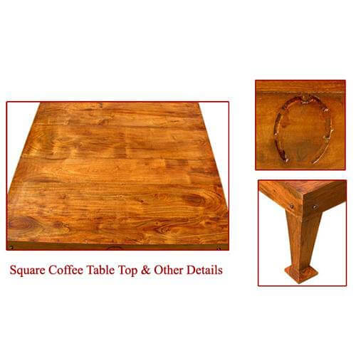 Coffee Tables Shaker Style Square Coffee Table Made Of Solid Hardwood