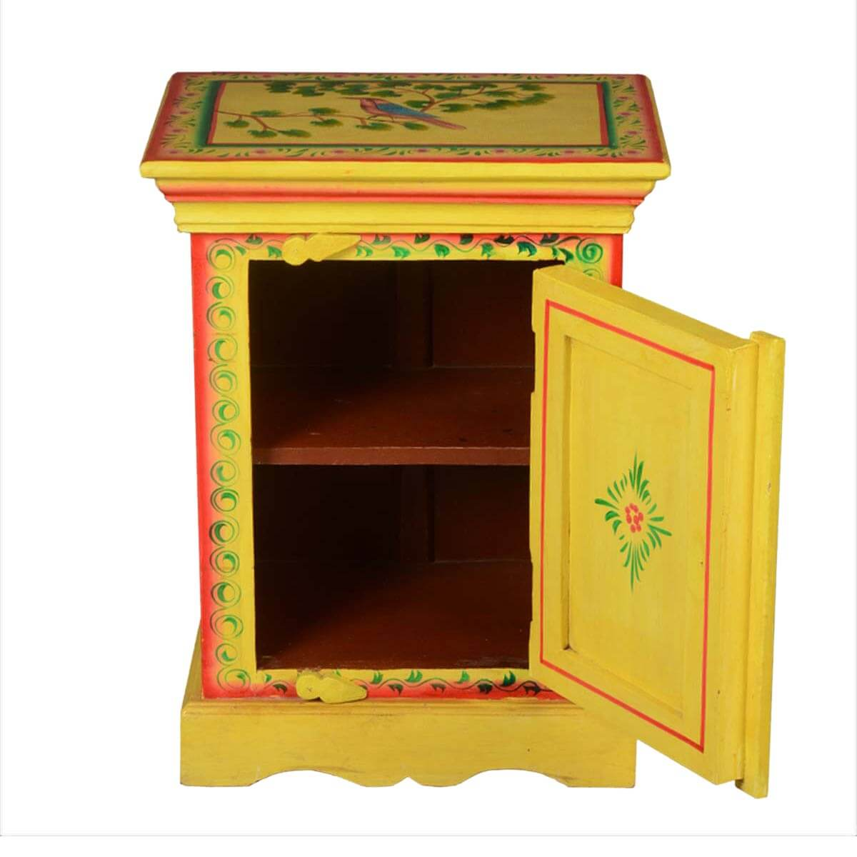 Amazing photo of  Bohemian Dream Wood Hand Made Kitchen Storage Cabinet End Side Table with #2B0E02 color and 1200x1200 pixels