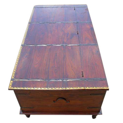Solid Wood Coffee Tables With Storage Cabinets For Sale