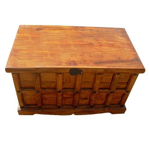 Wood Storage Toy Box Chest Trunk Coffee Cocktail Table